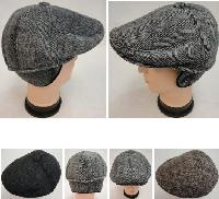 Warm Ivy Cap with Ear Flaps[Herringbone] Button Top